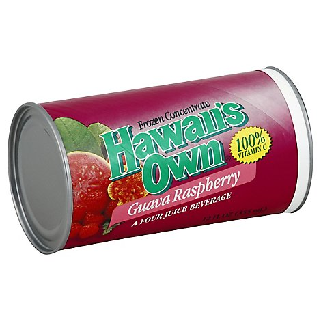 Hawaiis Own Juice Frozen Concentrate Guava Raspberry - 12 Fl. Oz.