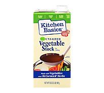 Kitchen Basics Vegetable Stock Unsalted - 32 Fl. Oz.
