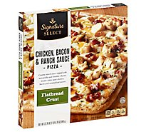 Signature SELECT Pizza Flatbread Crust Chicken Bacon & Ranch Sauce Frozen - 22.76 Oz