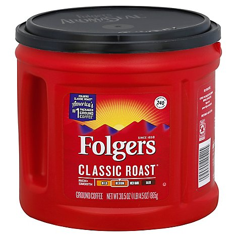 Folgers Coffee Ground Medium Roast Classic Roast - 30.5 Oz