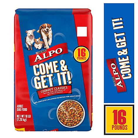 ALPO Come & Get It Adult Dog Food Cookout Classics Bag - 16 Lb