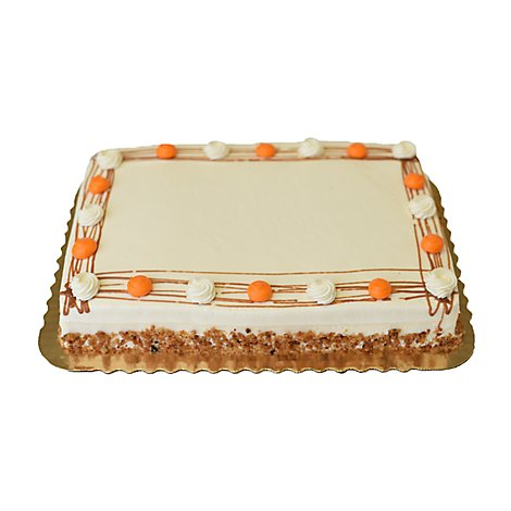 Bakery Cake 1/4 Sheet Carrot - Each