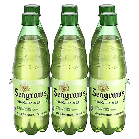 Seagrams Ginger Ale - 6-16.9 Fl. Oz.