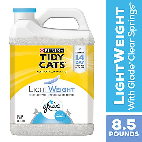 Tidy Cats Cat Clumping Litter Light Weight Glade - 8.5 Lb