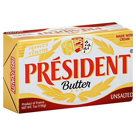 President Unsalted Butter Bar - 7 Oz