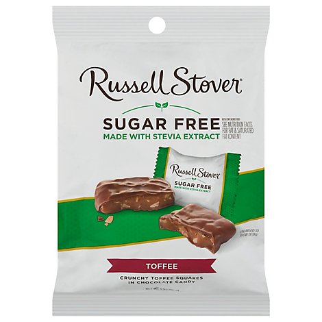 Russell Stover Sugar Free Toffee Squares - 3 Oz