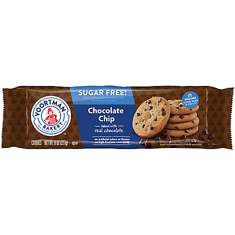 Voortman Bakery Cookies Sugar Free Chocolate Chip - 8 Oz