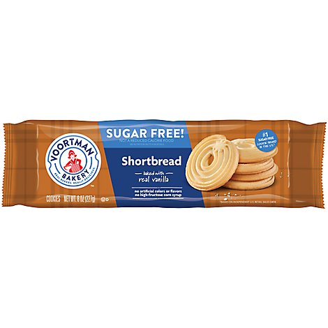 Voortman Bakery Cookies Sugar Free Shortbread - 8 Oz