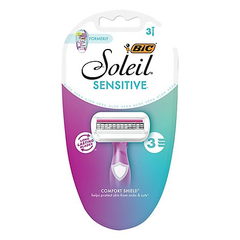 BIC Soleil Shavers Glow Womens Disposable - 3 Count