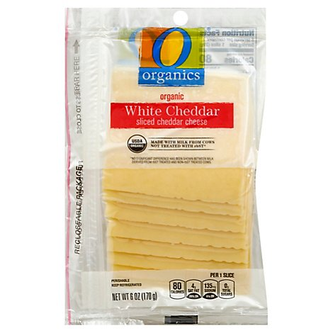 O Organics Organic Cheese Sliced White Cheddar - 6 Oz