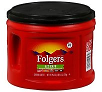 Folgers Coffee Ground Medium Roast 1/2 Caff - 25.4 Oz