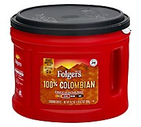 Folgers Coffee Ground Medium-Dark Roast Colombian Dintinctively Rich - 24.2 Oz