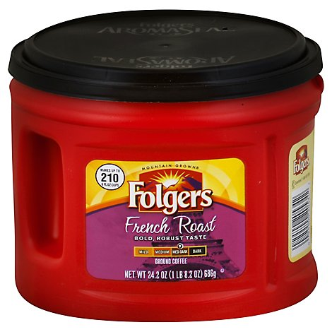 Folgers Coffee Ground Medium-Dark Roast French Roast - 24.2 Oz