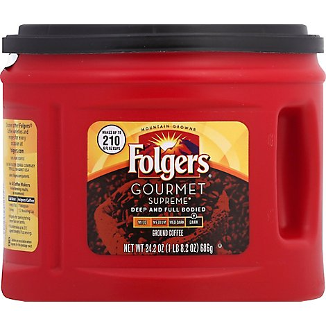 Folgers Coffee Ground Dark Roast Gourmet Supreme - 24.2 Oz