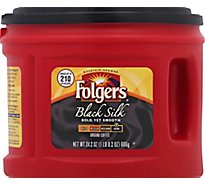 Folgers Coffee Ground Dark Roast Black Silk - 24.2 Oz