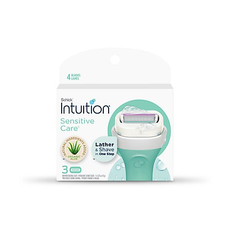 Schick Intuition Sensitive Care Naturals Refill - 3 Count