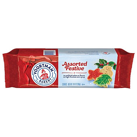 Voortman Bakery Cookies Assorted Festive - 10.6 Oz
