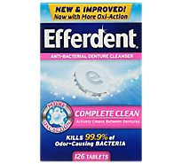 Efferdent Denture Cleanser Anti-Bacterial Value Pack - 126 Count