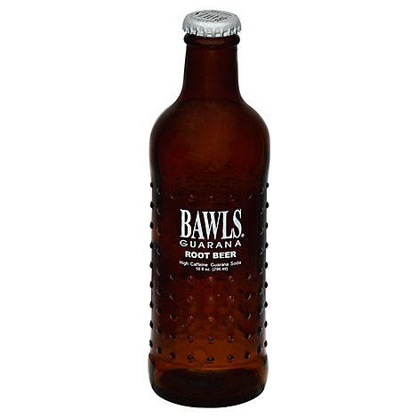BAWLS Guarana Soda High Caffeine Root Beer - 10 Fl. Oz.
