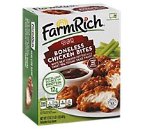 Farm Rich Frozen Snack Chicken Bites Boneless Bbq - 17 Oz