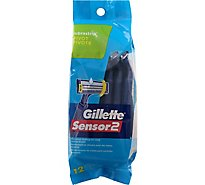 Gillette Sensor2 Razor Disposable Pivot & Lubrastrip - 12 Count