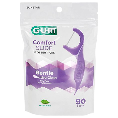 GUM Flossers Comfort Slide Fresh Mint - 90 Count