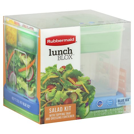 Rubbermaid Salad Kit Lunch Box - Each