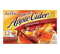 Alpine Drink Mix Single Serve Cups Instant Spiced Apple Cider Original - 12-0.81 Oz