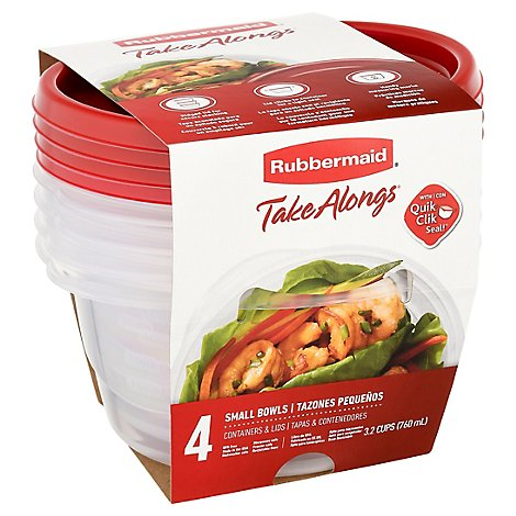 Rubbermaid Take Alongs Containers + Lids Round 4pc - Each