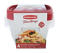 Rubbermaid Take Alongs Containers + Lids Deep Sqre 4pc - 4 Count