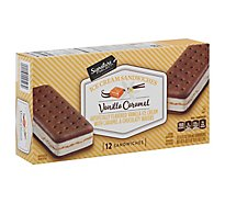Signature SELECT Ice Cream Sandwiches Vanilla Caramel - 12-3.5 Fl. Oz.