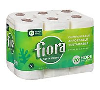 FIORA Bath Tissue 2-Ply Unscented - 12 Roll