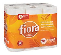 FIORA Paper Towels 3 Ply Right Size - 6 Roll