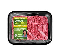 Lauras Beef Ground Beef 92% Lean 8% Fat - 1.00 LB