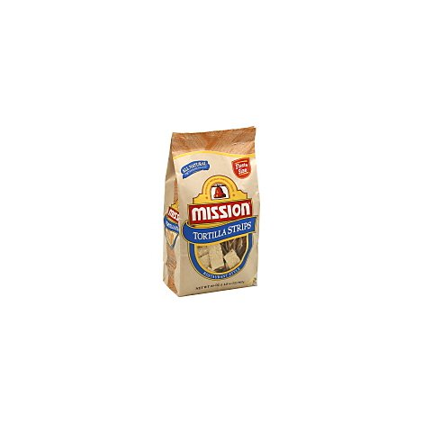 Mission Tortilla Strips Restaurant Style Fiesta Size - 20 Oz