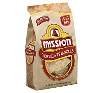 Mission Tortilla Triangles Restaurant Style - 20 Oz