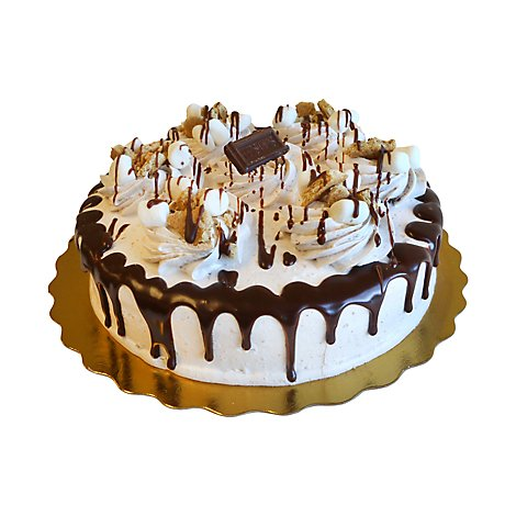 Bakery Cake 8 Inch 1 Layer Smores - Each