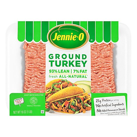 Jennie-O Ground Turkey 93% Lean 7% Fat - 16 Oz.