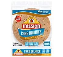 Mission Carb Balance Tortillas Whole Wheat Super Soft Soft Taco Bag 8 Count - 12 Oz