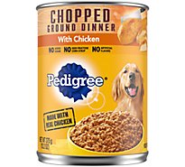 Pedigree Dog Food Adult Wet Chopped Ground Dinner With Chicken - 13.2 Oz