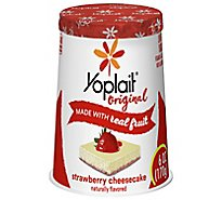 Yoplait Original Yogurt Low Fat Strawberry Cheesecake - 6 Oz