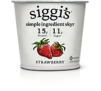 Siggis Yogurt Icelandic Style Skyr Strained Non-Fat Strawberry - 5.3 Oz