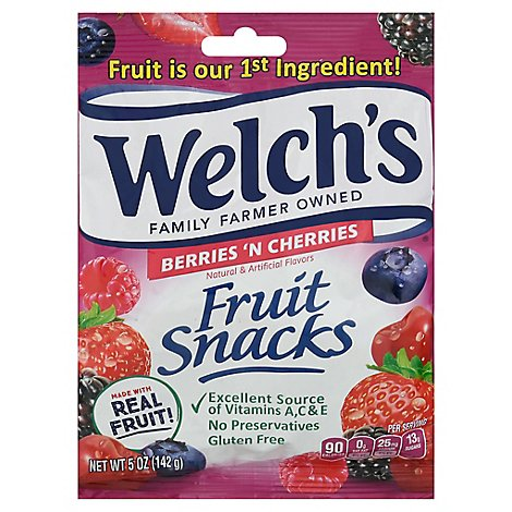 Welchs Fruit Snacks Berries N Cherries - 5 Oz