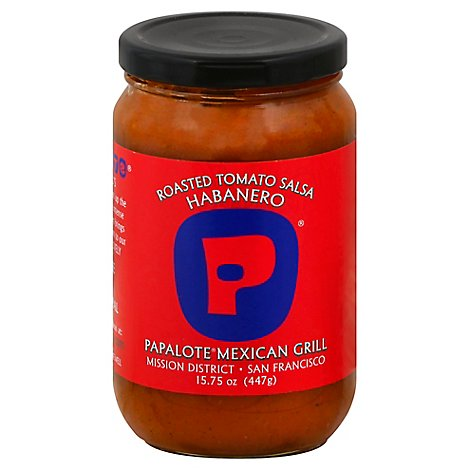 Papalote Mexican Grill Salsa Tomato Roasted Habanero Jar - 15.75 Oz