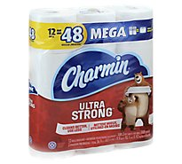 Charmin Ultra Strong Bathroom Tissue Mega Rolls 2 Ply - 12 Roll