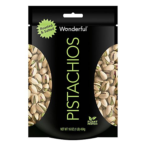 Wonderful Roasted & Salted Pistachios - 16 Oz