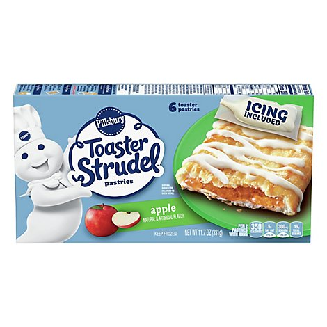 Pillsbury Toaster Strudel Pastries Apple 6 Count - 11.7 Oz