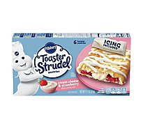 Pillsbury Toaster Strudel Pastries Cream Cheese & Strawberry 6 Count - 11.7 Oz