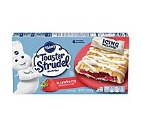 Pillsbury Toaster Strudel Pastries Strawberry 6 Count - 11.7 Oz