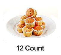 Bakery Muffins Mini Orange Cranberry 12 Count - Each